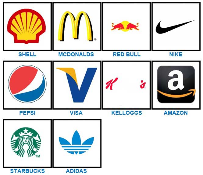 100 Pics Quiz Logos Answers | 100 Pics Quiz Answers