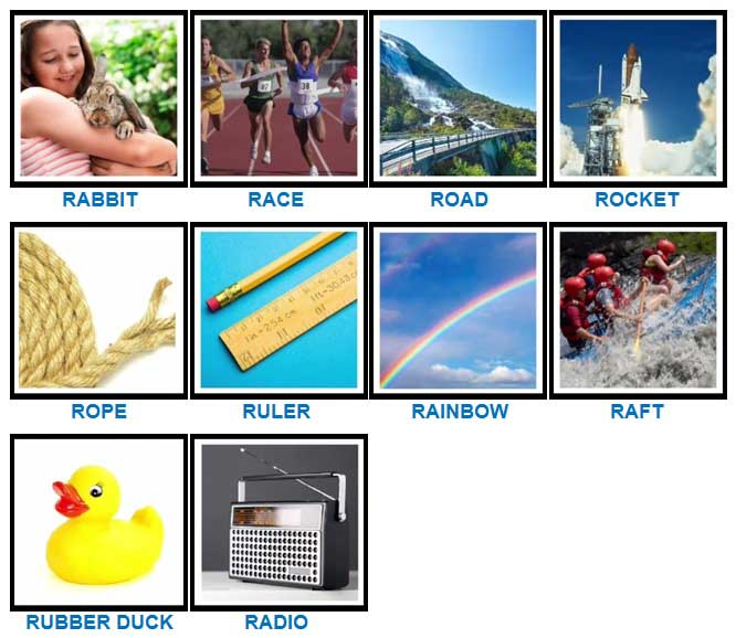 100 Pics Quiz R is For Answers | 100 Pics Quiz Answers